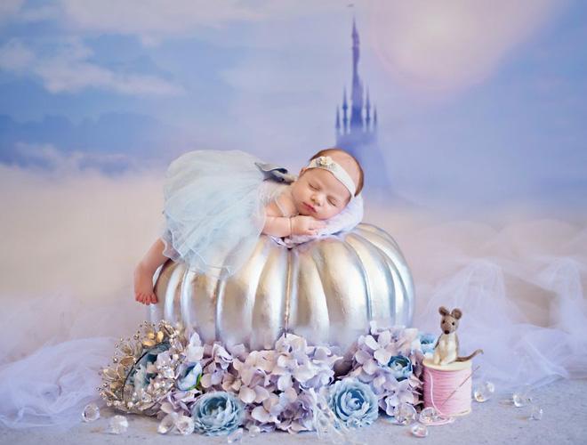 Bộ ảnh đẹp lung linh của các bé sơ sinh vào vai công chúa Disney - Ảnh 15.