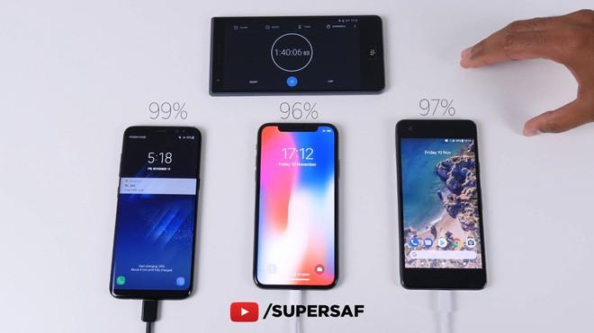Samsung Galaxy S8 đánh bại Google Pixel 2 và iPhone X trong cuộc đọ sức về tốc độ sạc nhanh - Ảnh 8.