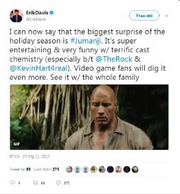 Giới phê bình quốc tế hết lời khen ngợi tác phẩm mùa giáng sinh Jumanji: Trò chơi kì ảo - Ảnh 6.