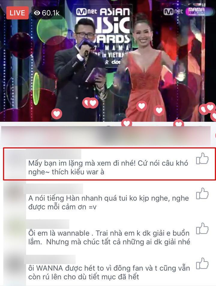 Tranh cãi quanh việc một số khán giả la ó, làm dấu hiệu phản đối khi Chi Pu hát tiếng Hàn trên sân khấu MAMA - Ảnh 5.