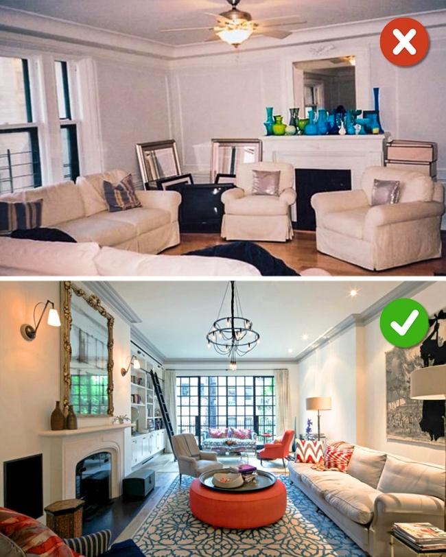 15 lỗi bố trí nội thất phòng khách mà gia đình nào cũng thường mắc phải - Ảnh 1.