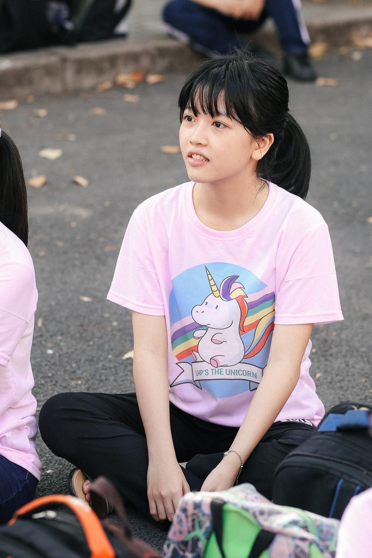 Nữ sinh lớp 12 trường chuyên Lê Hồng Phong rạng rỡ trong hội trại trưởng thành - Ảnh 4.