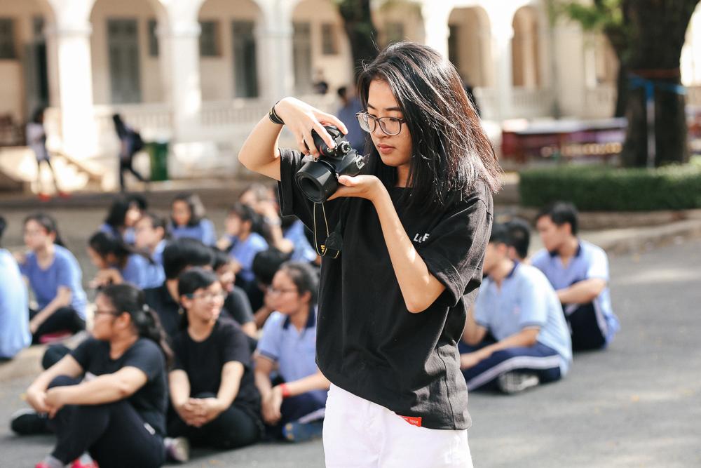 Nữ sinh lớp 12 trường chuyên Lê Hồng Phong rạng rỡ trong hội trại trưởng thành - Ảnh 8.