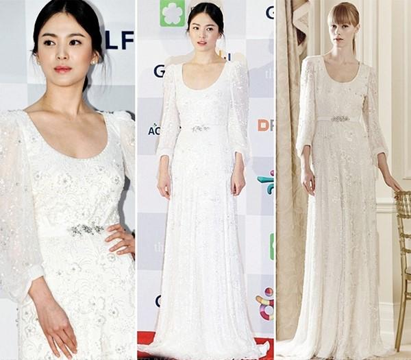 Dù là đám cưới thế kỷ, Song Hye Kyo vẫn chọn váy và trang điểm giản dị không khác gì mọi khi - Ảnh 6.