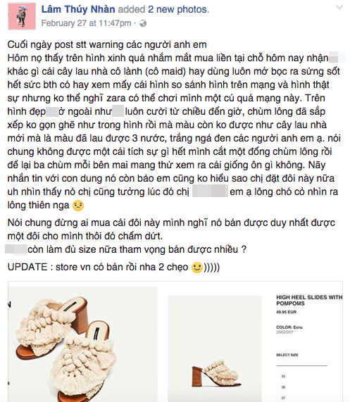 Tưởng mua được đôi Zara chất chơi, nào ngờ Fashionista lừng lẫy nhận được giày... lau nhà - Ảnh 1.