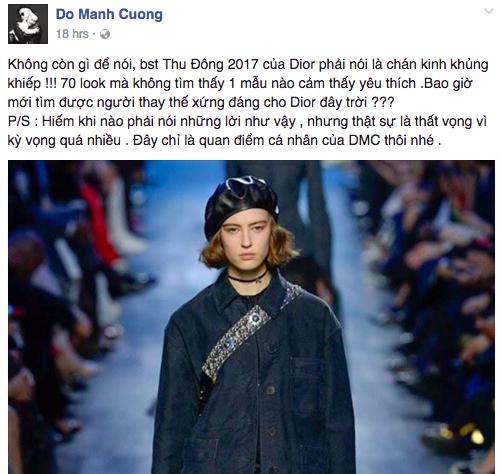 NTK Đỗ Mạnh Cường và giới mộ điệu Việt chê ỏng chê eo BST mới nhất của Dior - Ảnh 3.