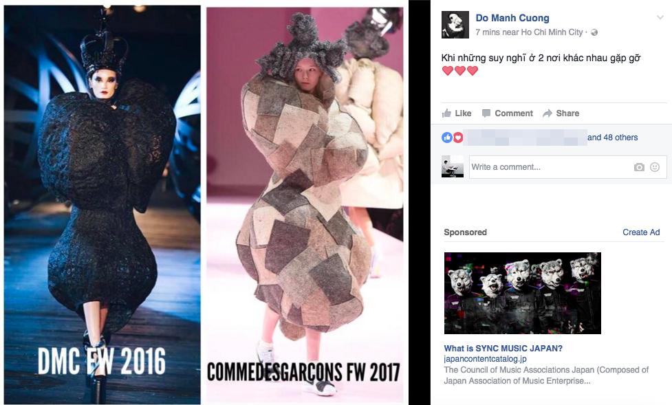 Kỳ lạ: Thiết kế mới nhất của Comme des Garçons giông giống sáng tạo của Đỗ Mạnh Cường - Ảnh 1.