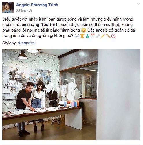 Sau Chi Pu, đến Angela Phương Trinh cũng nhăm nhe chuyển ngạch sang thiết kế thời trang? - Ảnh 1.