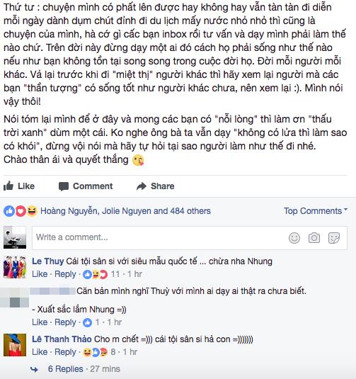 Kim Nhung - Người mẫu bỏ thi The Face, chê Hoàng Thùy ai dạy ai thật ra chưa biết là ai? - Ảnh 4.