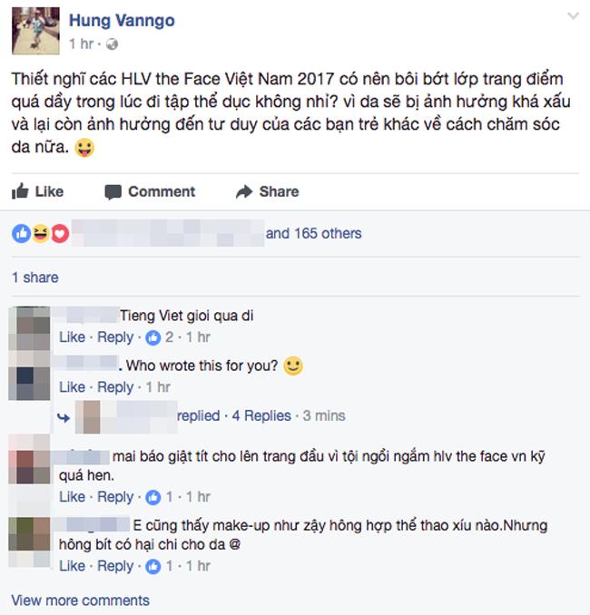 Chuyên gia trang điểm của Selena Gomez chê HLV The Face Việt đi tập thể dục mà son phấn quá dầy - Ảnh 1.