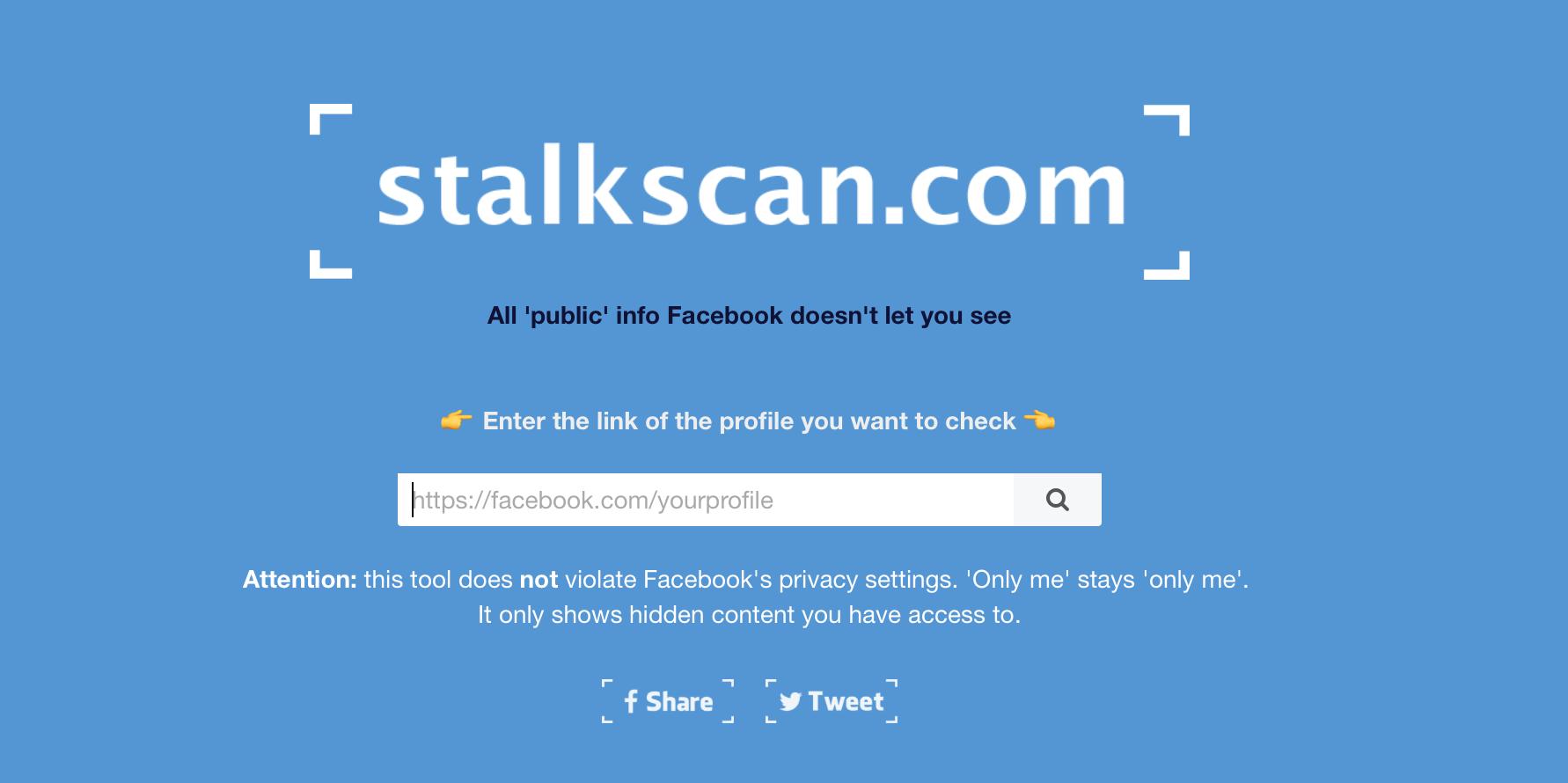 Trang web này sẽ cho phép bạn điều tra tất tần tật về Facebook của người bạn thích (hoặc ghét) - Ảnh 1.