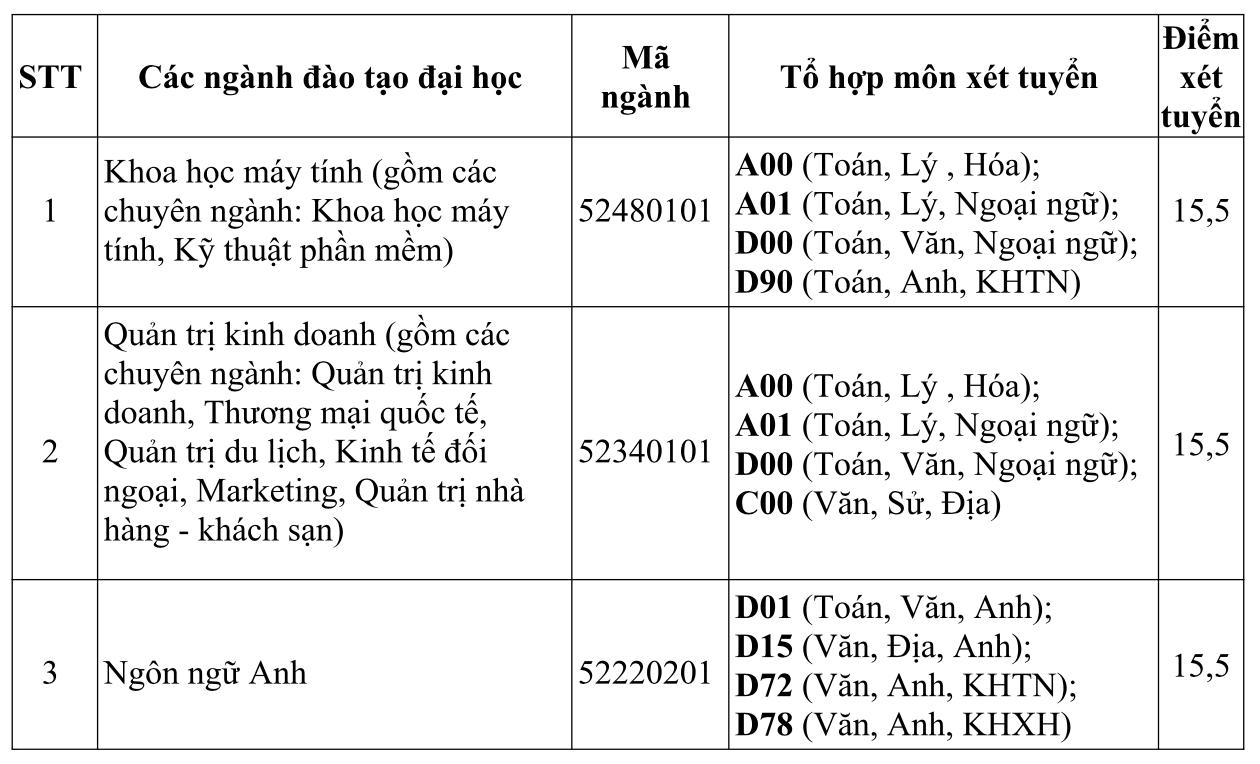ĐH Quốc tế Sài Gòn công bố điểm xét tuyển nguyện vọng 1 - Ảnh 2.