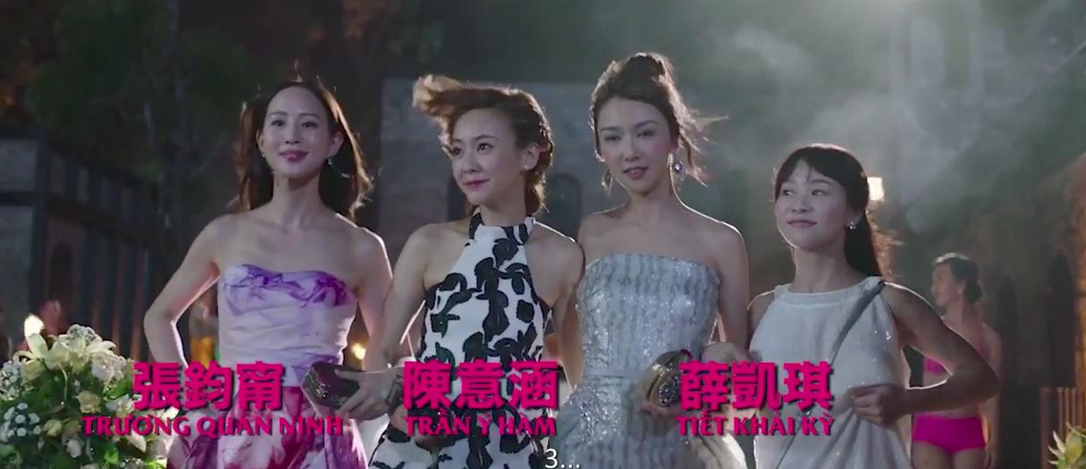 Trương Quân Ninh, Trần Ý Hàm mê chơi đến... bay cả quần áo ở tiệc xa hoa của Trần Bảo Sơn - Ảnh 2.
