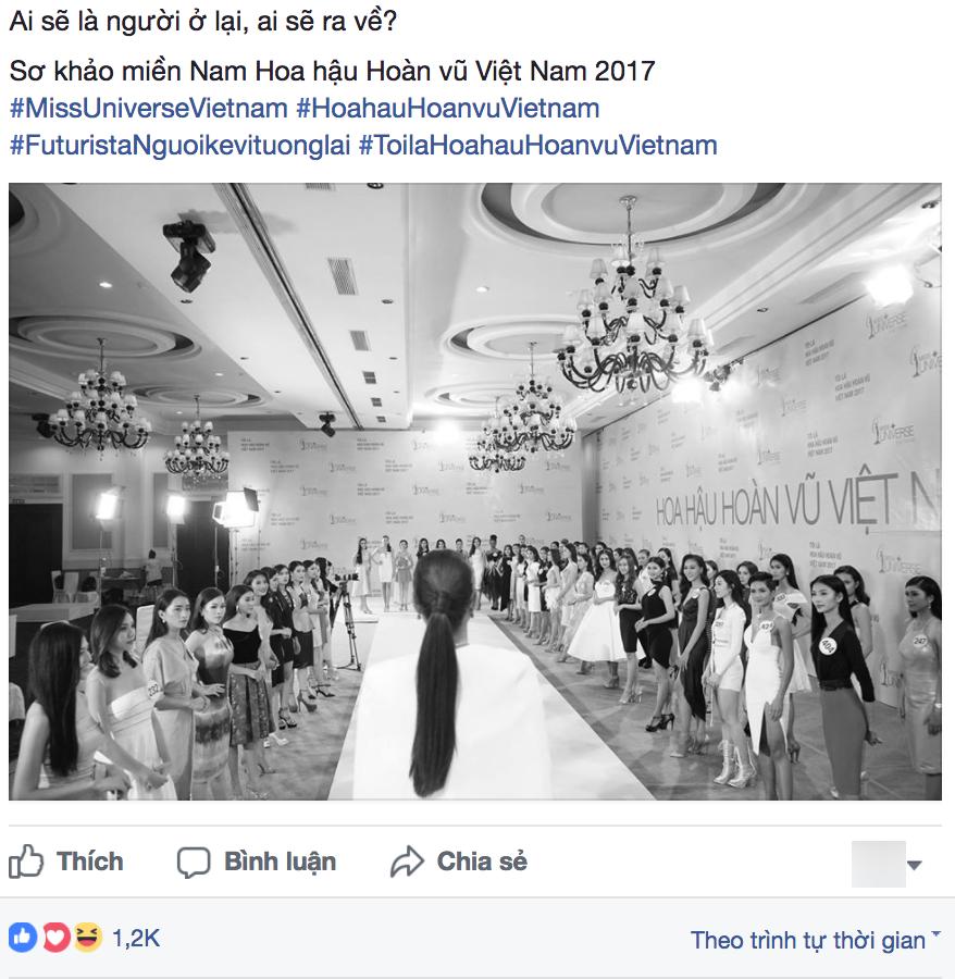 Bức hình Phạm Hương công bố kết quả cho Hoàng Thùy gây chú ý - Ảnh 1.