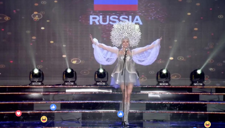 Clip: Huyền My mặc quốc phục hoành tráng, tỏa sáng trên sân khấu Miss Grand International 2017 - Ảnh 16.