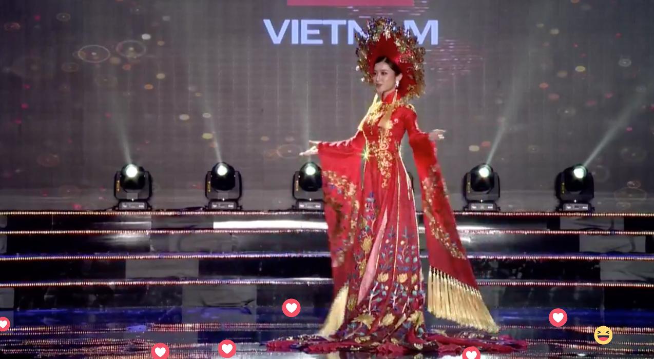 Clip: Huyền My mặc quốc phục hoành tráng, tỏa sáng trên sân khấu Miss Grand International 2017 - Ảnh 5.
