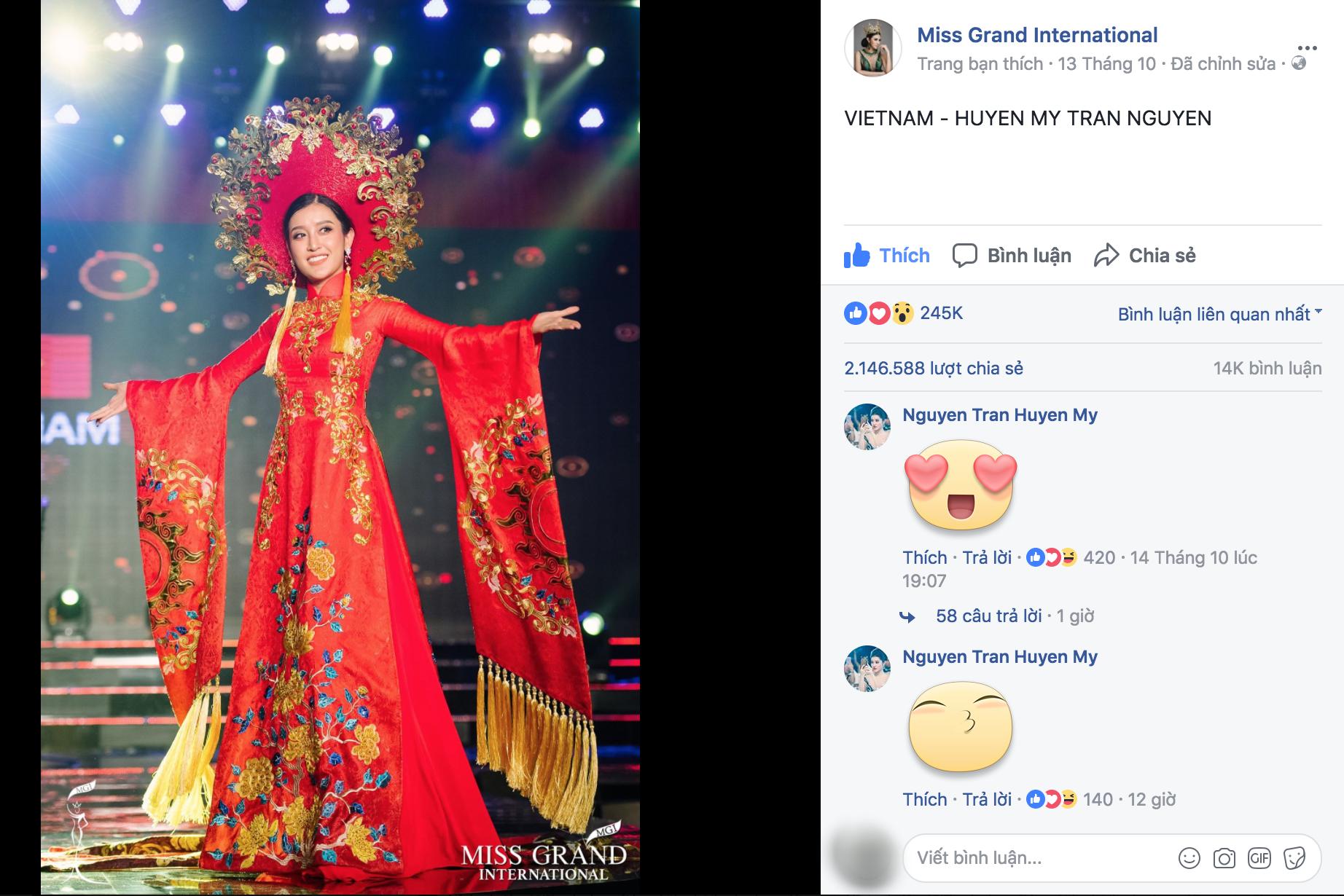 Chuyện hy hữu: BTC Miss Grand International công bố nhầm Top 1 bình chọn Trang phục dân tộc giữa Việt Nam và Indonesia - Ảnh 3.