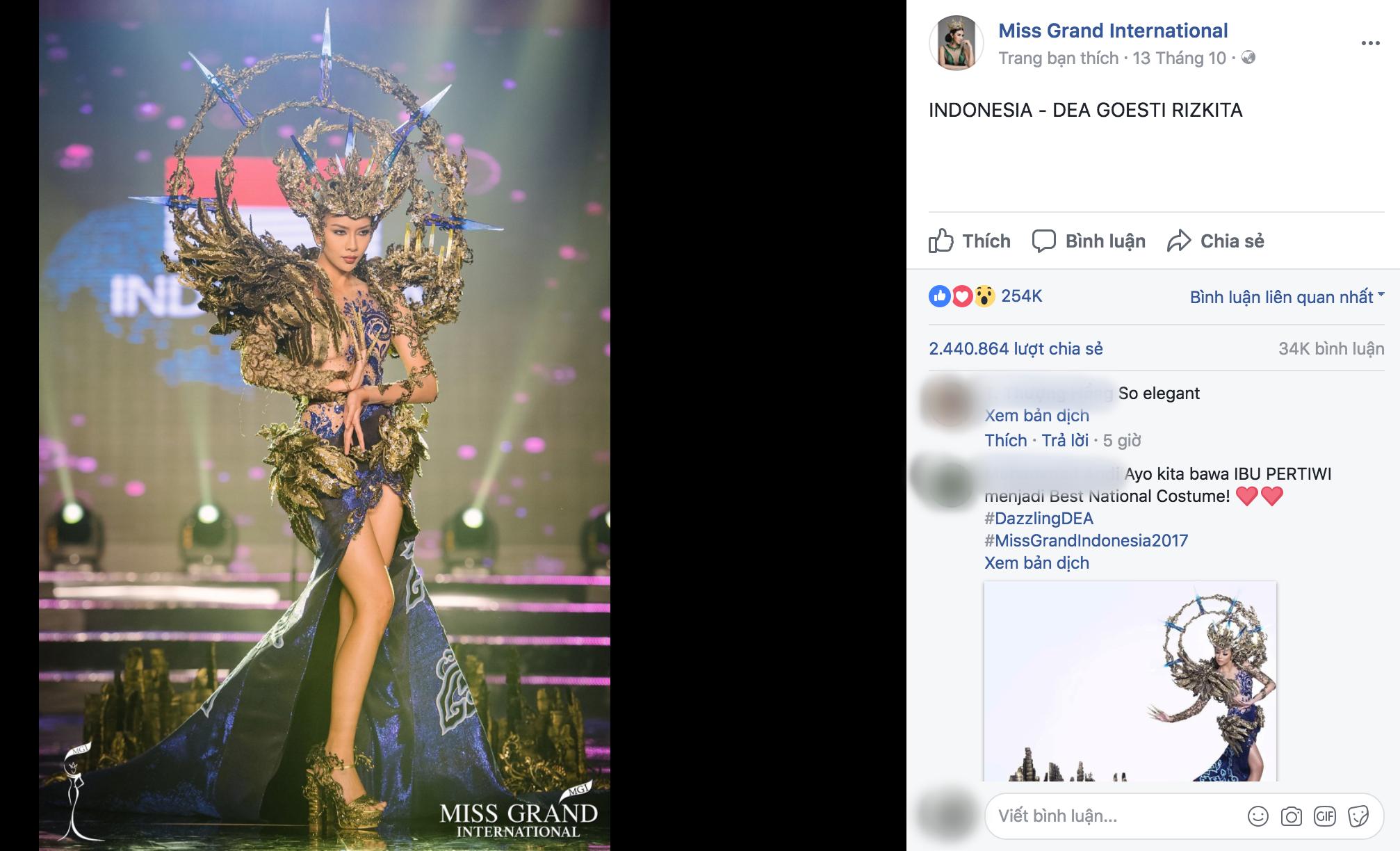 Chuyện hy hữu: BTC Miss Grand International công bố nhầm Top 1 bình chọn Trang phục dân tộc giữa Việt Nam và Indonesia - Ảnh 4.
