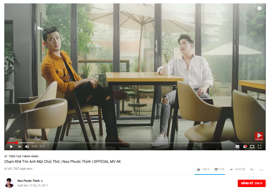 Đại chiến trending Vpop: Noo Phước Thịnh tạm dẫn đầu, MV của Mỹ Tâm vượt mặt Chi Pu chỉ sau 1 ngày ra mắt - Ảnh 1.