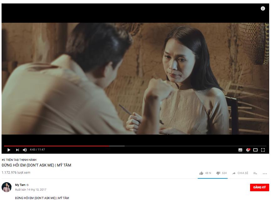 Đại chiến trending Vpop: Noo Phước Thịnh tạm dẫn đầu, MV của Mỹ Tâm vượt mặt Chi Pu chỉ sau 1 ngày ra mắt - Ảnh 2.