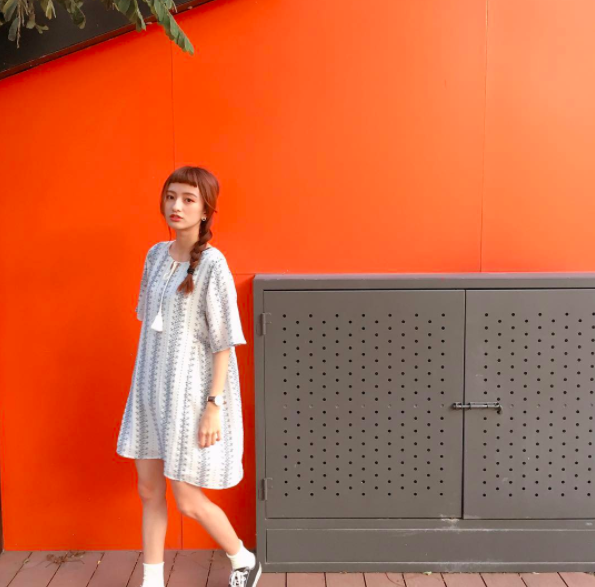Cô bạn Đài Loan với tóc mái ngố giữa trán: Mặt đẹp thì chấp hết! - Ảnh 2.