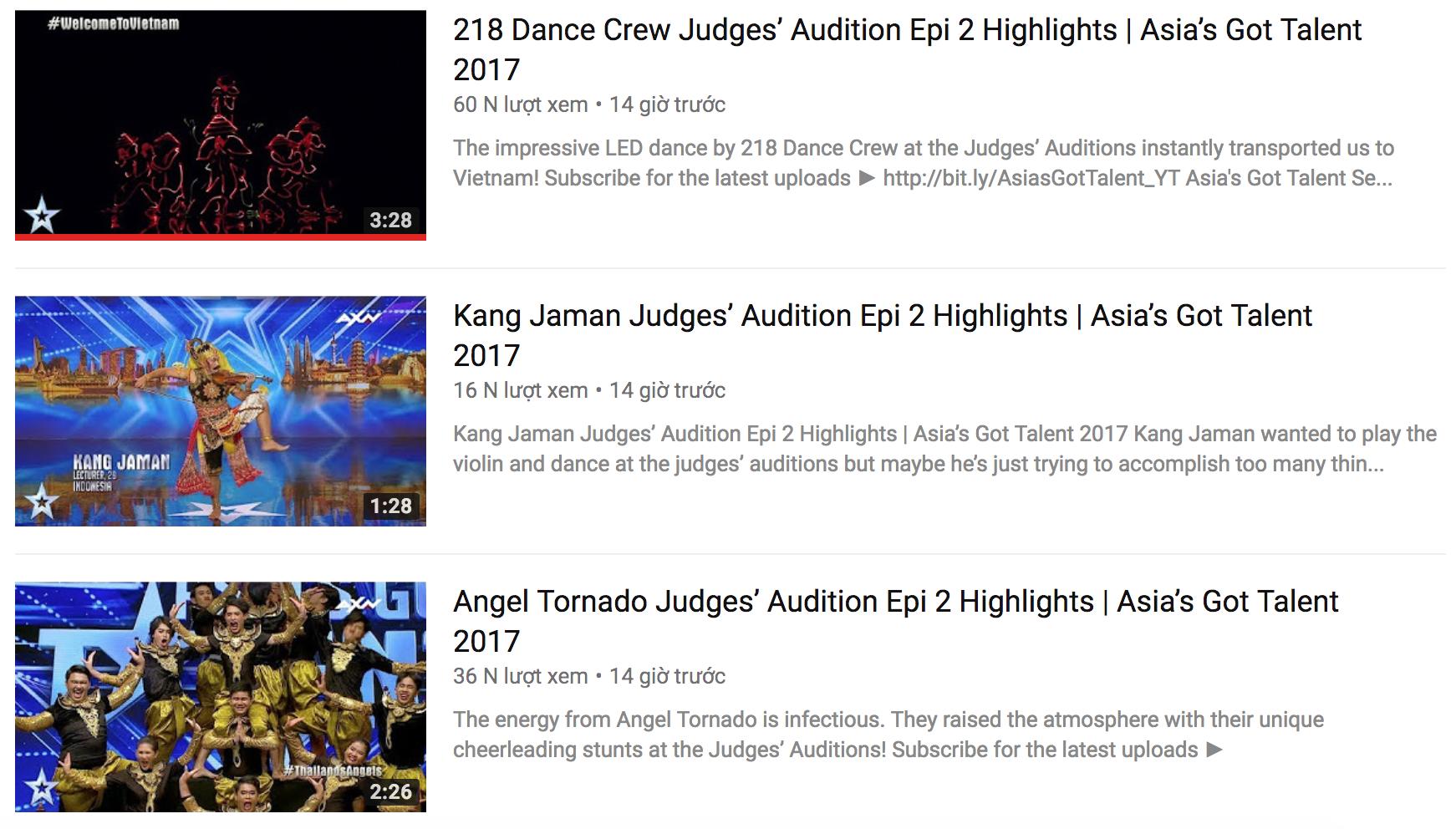 Clip dự thi của nhóm nhảy Việt ghi được lượt xem cao hơn nhiều tiết mục được đăng tải cùng thời điểm