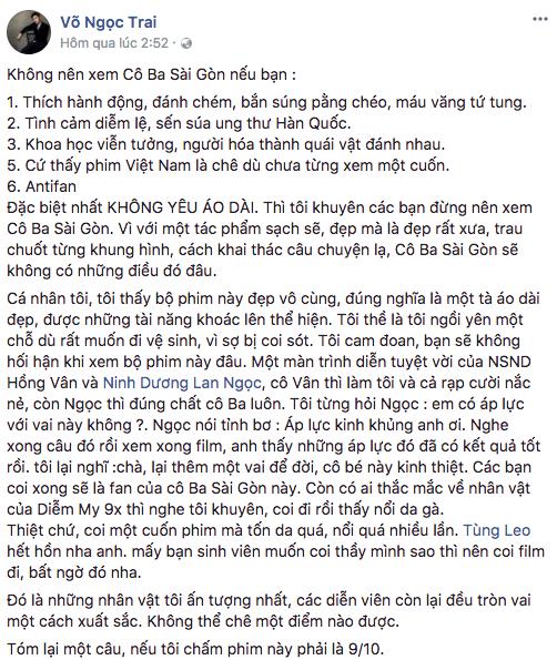 Tăng Thanh Hà, Lương Mạnh Hải và nhiều sao Việt đồng loạt khen ngợi Cô Ba Sài Gòn hết lời - Ảnh 12.
