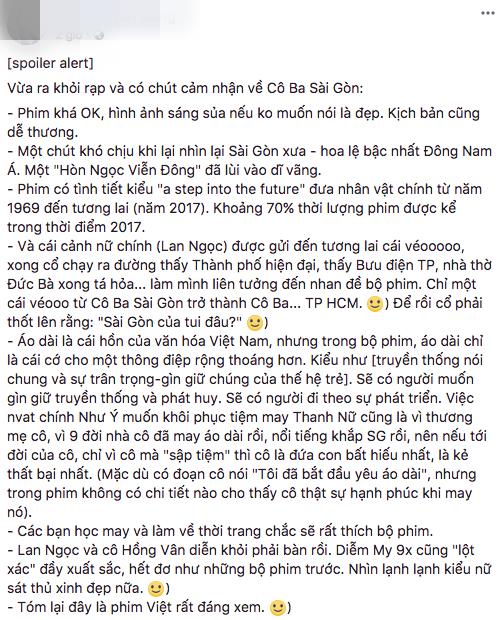 Tăng Thanh Hà, Lương Mạnh Hải và nhiều sao Việt đồng loạt khen ngợi Cô Ba Sài Gòn hết lời - Ảnh 21.