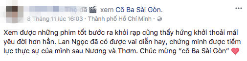 Tăng Thanh Hà, Lương Mạnh Hải và nhiều sao Việt đồng loạt khen ngợi Cô Ba Sài Gòn hết lời - Ảnh 23.