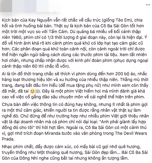 Tăng Thanh Hà, Lương Mạnh Hải và nhiều sao Việt đồng loạt khen ngợi Cô Ba Sài Gòn hết lời - Ảnh 24.