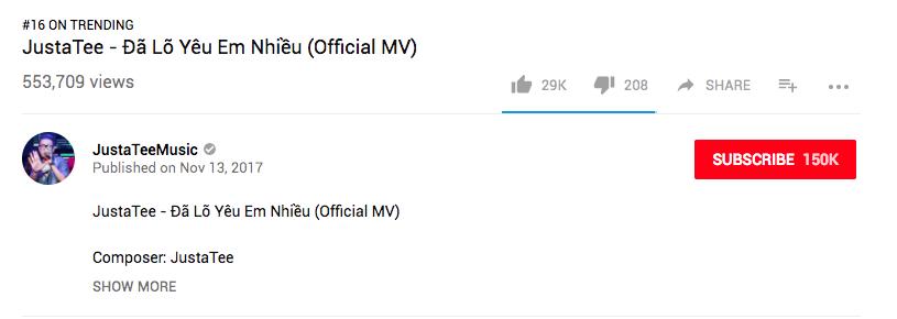 Mải mê nhìn MV tăng hạng trending trên Youtube, mà JustaTee không nhìn ra lỗi gõ chữ to đùng thế này? - Ảnh 3.