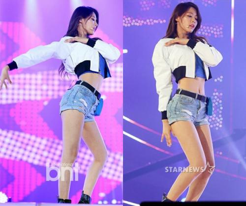 Cuộc chiến thân hình hoàn hảo: Mỹ nhân Seolhyun (AOA) hay nữ hoàng legging Na Eun? - Ảnh 7.