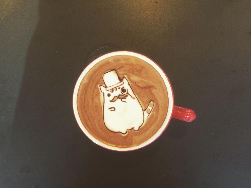 Triển lãm tranh hoạt hình cute trên những ly cà phê - Ảnh 15.