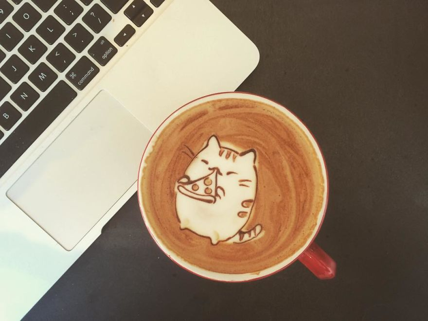 Triển lãm tranh hoạt hình cute trên những ly cà phê - Ảnh 7.