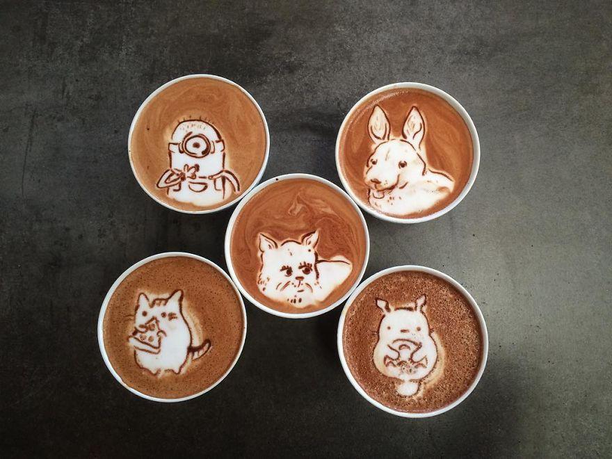 Triển lãm tranh hoạt hình cute trên những ly cà phê - Ảnh 19.