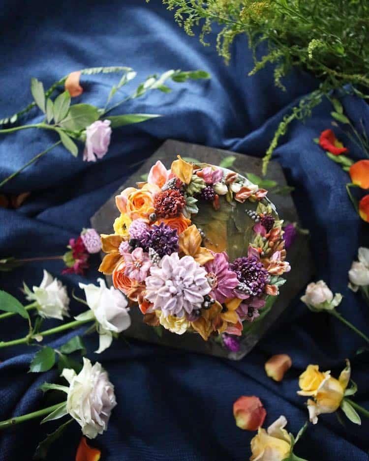 Bộ sưu tập bánh cưới hoa cỏ đẹp như thật của đầu bếp Hàn Quốc - Ảnh 1.