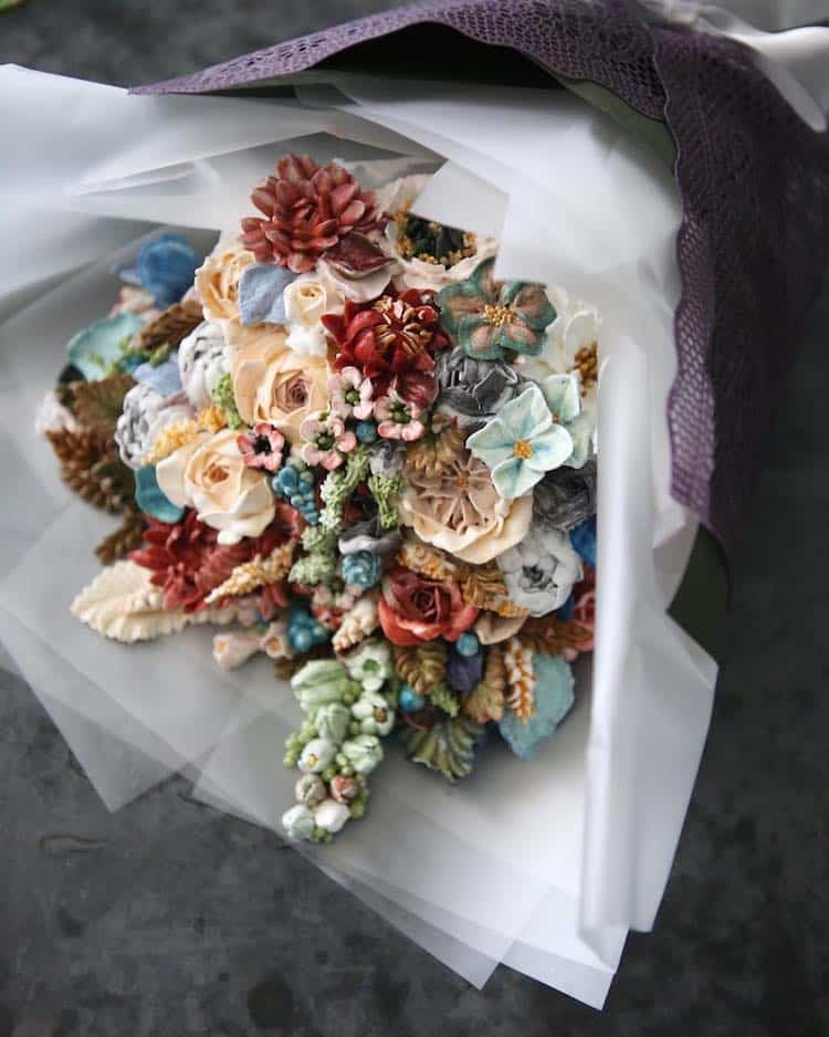Bộ sưu tập bánh cưới hoa cỏ đẹp như thật của đầu bếp Hàn Quốc - Ảnh 3.
