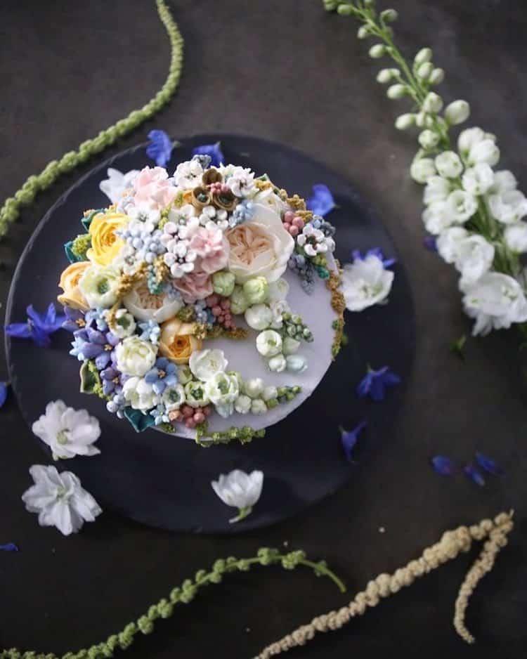 Bộ sưu tập bánh cưới hoa cỏ đẹp như thật của đầu bếp Hàn Quốc - Ảnh 13.