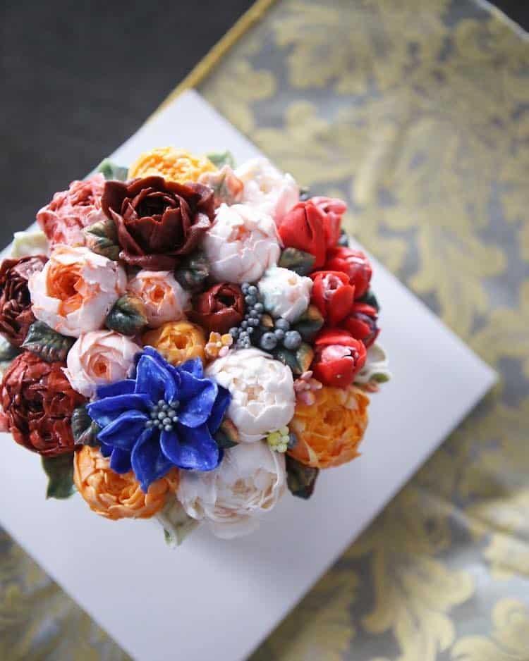 Bộ sưu tập bánh cưới hoa cỏ đẹp như thật của đầu bếp Hàn Quốc - Ảnh 5.