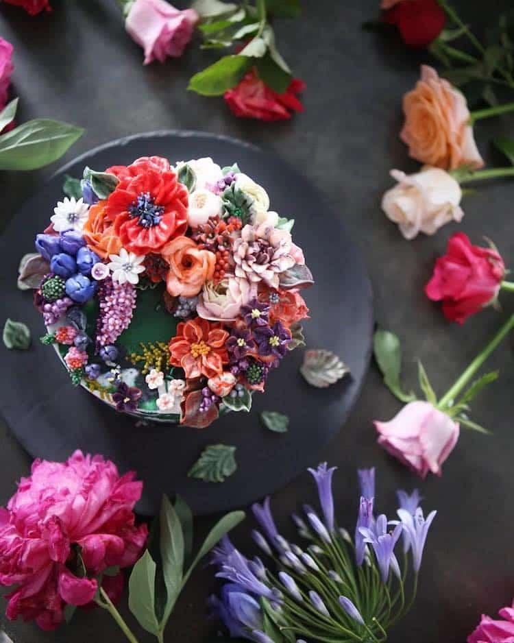 Bộ sưu tập bánh cưới hoa cỏ đẹp như thật của đầu bếp Hàn Quốc - Ảnh 11.