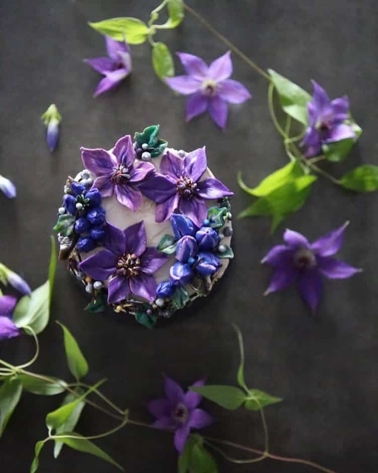 Bộ sưu tập bánh cưới hoa cỏ đẹp như thật của đầu bếp Hàn Quốc - Ảnh 9.