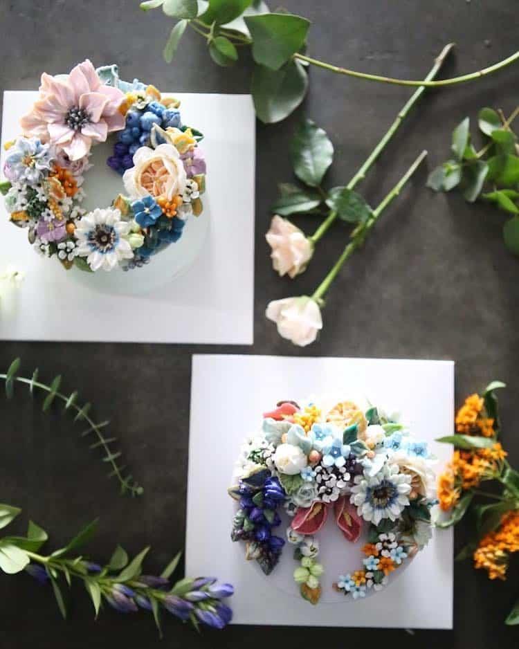 Bộ sưu tập bánh cưới hoa cỏ đẹp như thật của đầu bếp Hàn Quốc - Ảnh 17.