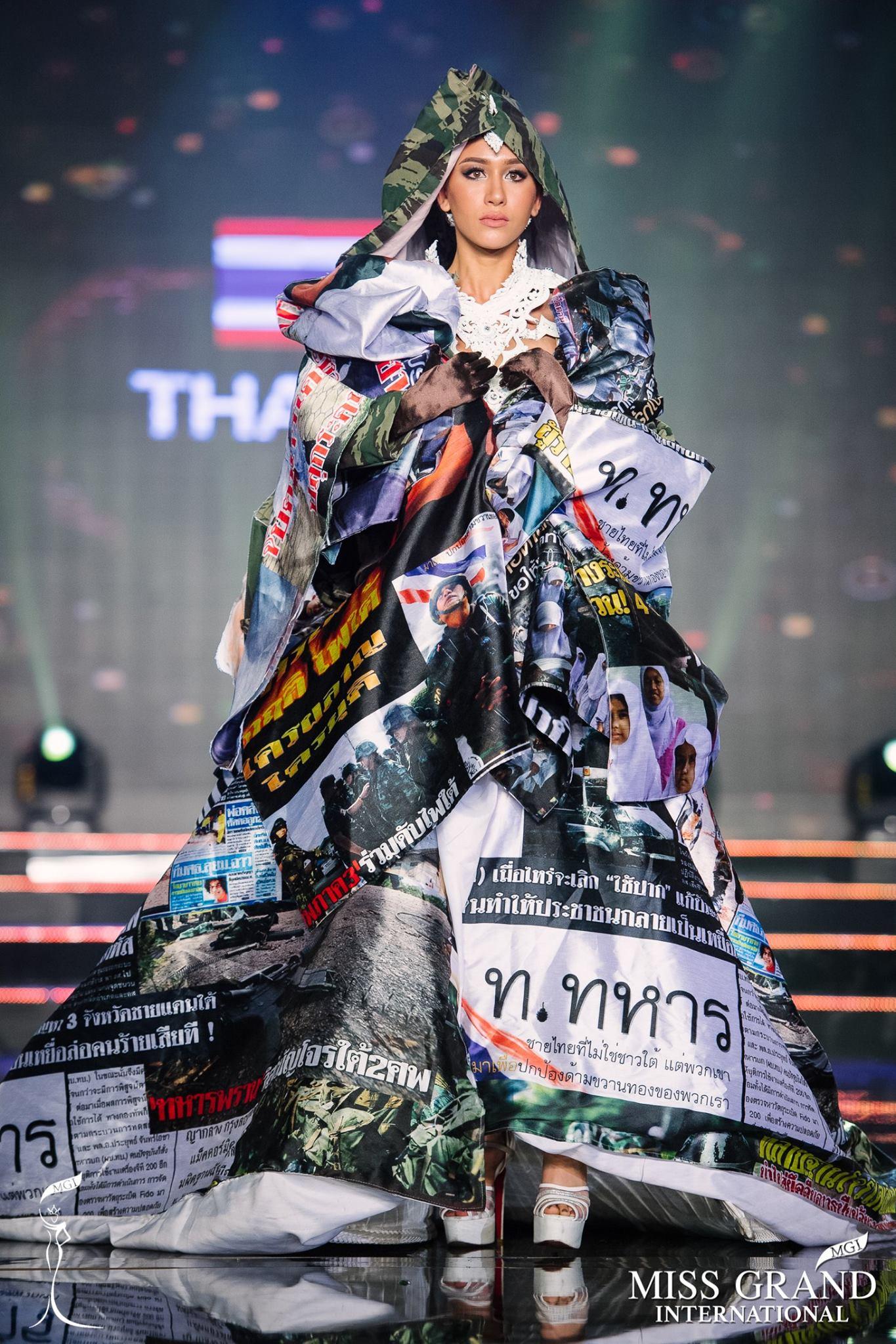 Trước giờ công bố kết quả, Huyền My lọt top 20 thí sinh có trang phục dân tộc được yêu thích nhất Miss Grand International 2017 - Ảnh 3.