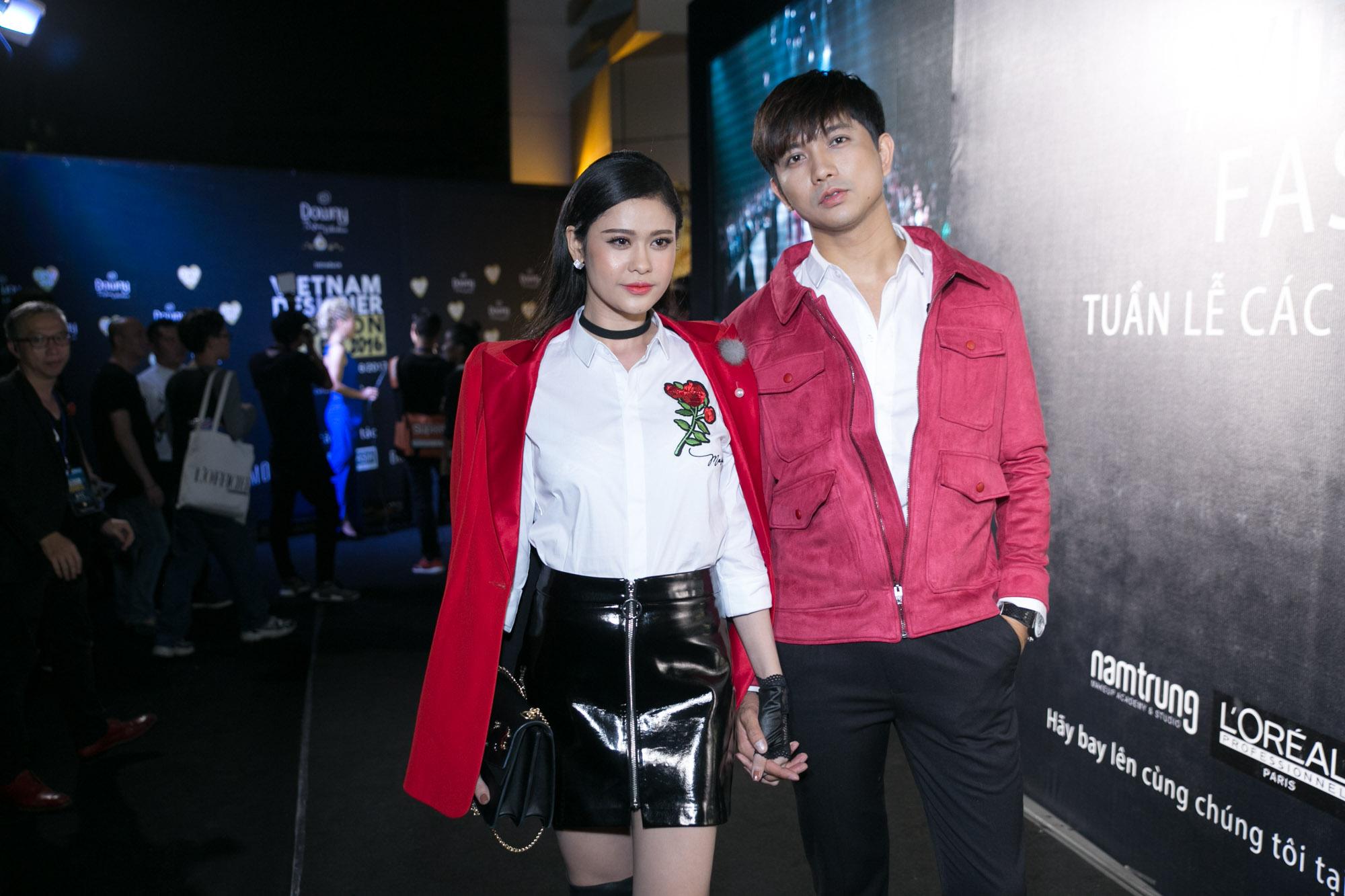 Trương Quỳnh Anh - Tim chăm diện thời trang ton-sur-ton nhất mỗi khi song hành trên thảm đỏ - Ảnh 6.