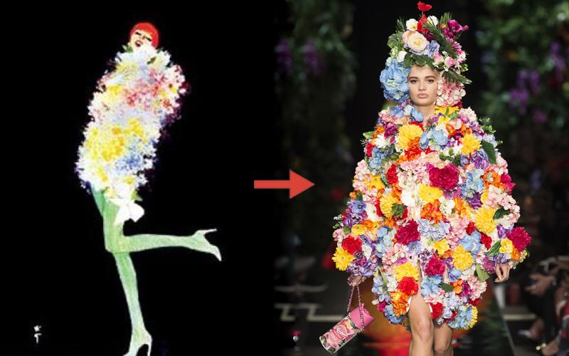 Từ bản phác thảo 1920 đến Tóc Tiên trên Elle 2016 và show Moschino 2018: Thời trang cũng chỉ lặp lại thôi mà! - Ảnh 6.