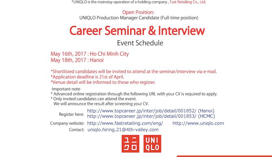 Hot: Uniqlo tuyển nhân sự, dự định mở store đầu tiên ở Sài Gòn vào mùa thu năm nay! - Ảnh 2.