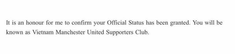Man Utd công nhận hội CĐV chính thức tại Việt Nam - Ảnh 3.
