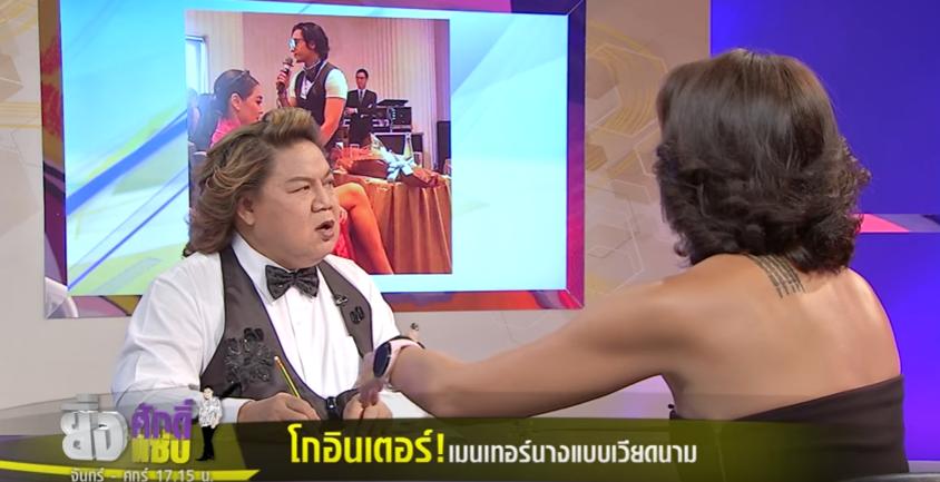 HLV Lukkade lên talkshow Thái Lan nói về scandal đi trễ và Hữu Vi ngồi trên bàn tại họp báo The Face Việt - Ảnh 7.