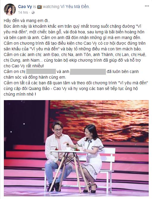 Dắt tay hot girl Vì yêu mà đến ra về, MC Quang Bảo viết tâm thư khẳng định cả 2 là... bạn tâm giao - Ảnh 8.