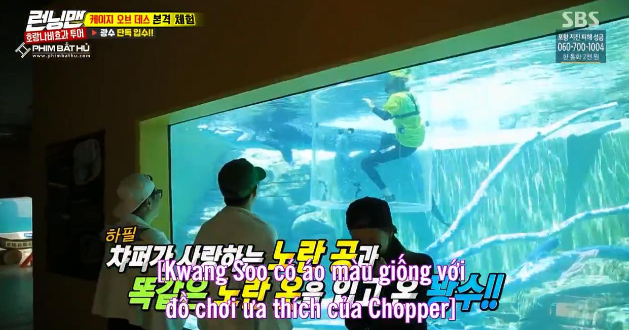 Sợ hãi tột độ, Lee Kwang Soo vẫn dành cho nàng cá sấu này 1 nụ hôn! - Ảnh 4.